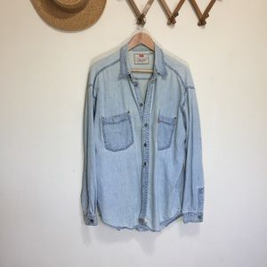 Vintage Levi Chambray Work Shirt